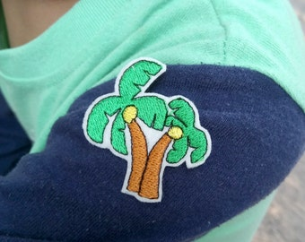 Cute Coconut Tree - Time for the beach - Iron on Patch