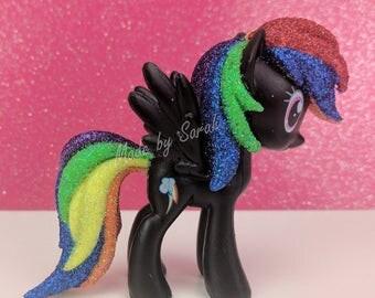 Custom My Little Pony Rainbow Dash Funko Mystery Mini Glitter Mane and Tail MLP Sparkle