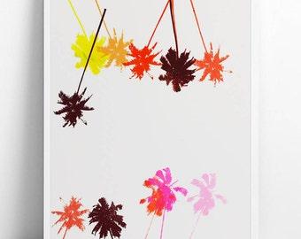 Palm tree screen painting 30 x 40 single edition