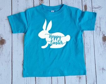 Hoppy Easter kids shirt, Easter Bunny Kids shirt, Bunny Rabbit shirt, Easter kids shirt, Easter outfit