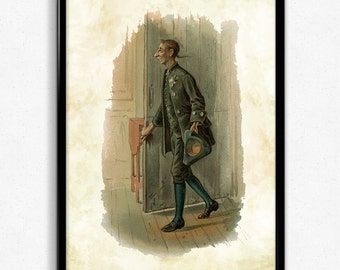 Ichabod Crane Sleepy Hollow Vintage Print - Sleepy Hollow Poster - Ichabod Crane Art - Ichabod Crane Poster - Bedroom Decor