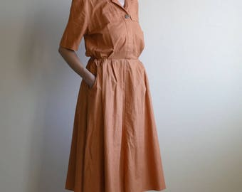 orange safari shirt dress