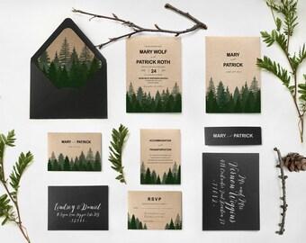forest wedding | etsy, Wedding invitations