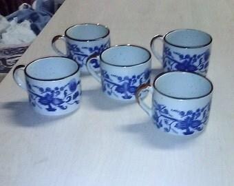 Vintage, Set of 5 Royal Ceramic Tea Cups