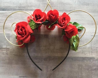 Red Rose, Crowned Minnie Ears