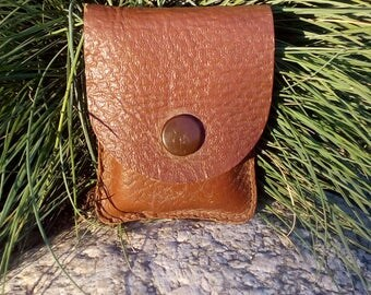 Vintage Mini Wallet For Coins, Mini Purse, Vintage Coin Purse, Leather Wallet, Vintage Accessory, Brown Wallet, Tiny Wallet.