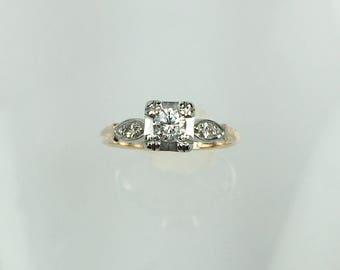Vintage 1940's diamond engagement ring .25ct