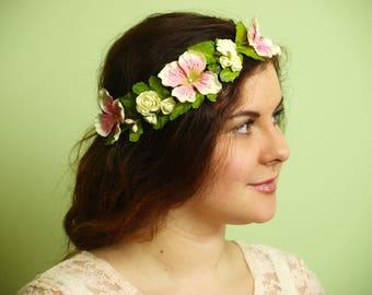 """Flower wreath """"BELLE EPOQUE"""""""