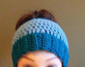 Childs ponytail /messy bun hat