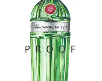 Tanqueray 10 Giclee Limited Edition Print of my original watercolour