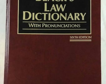 Blacks Law Dictionary W/ Pronunciations Sixth Edition (1891-1991) Hardcover Good