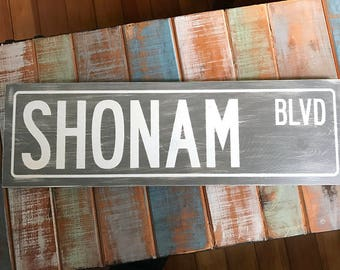 Wood Signs For Home Decor, Street Sign, Custom Street Signs, Personalized Street Sign, Distressed signs,  New Home Housewarming Gift