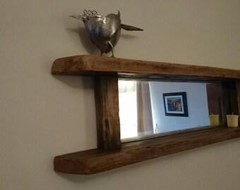 Handmade Rustic Driftwood Mirror hall way entrance