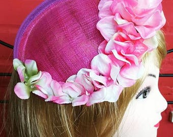Fuchsia headdress