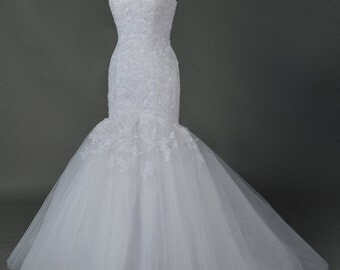 Lace and Tulle mermaid wedding gown