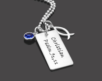 Confirmation communion necklace BLESSED 925 Silver necklace with engraving
