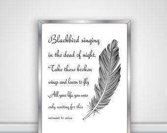 Beatles - Blackbird Singing In The Dead Of Night - Digital File