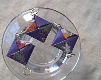 Origami squares necklace