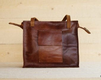 Leather bag, brown leather handbag, handmade leather bag