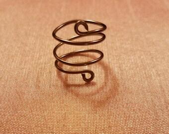 Metallic Purple Wire Ring