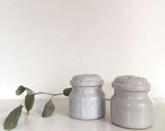 Grey Ceramic Salt and Pepper Set