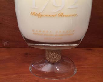1792 Bourbon Whiskey Bottle Soy Candle With/without Pedestal Base. 750ML. Made To Order !!!!!!!