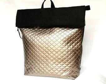METALLIC rucksack