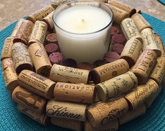 Candle Holder Cork Wreath