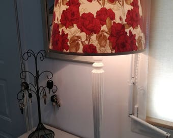 Floral lampshades, roses on a beige background