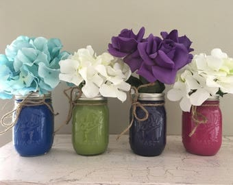 Mason Jar Centerpiece, Mason Jar Decor, Wedding Decor, Bridal Shower Decor, Baby Shower Decor