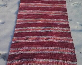 Handmade woven rug, Cotton Hand Woven Loom Rug, rag rug, cotton rug, Floor&Rugs, Rustic Country Home Decor Woven Rag Rug