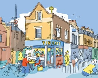 Tin Cafe, Haggerston, East London