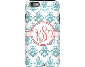 Monogram iPhone 5C Case - iPhone 6S Case - Damask iPhone Case - iPhone SE Cover - Pretty iPhone 4 Case - iPhone 5S Case - Personalized Gift