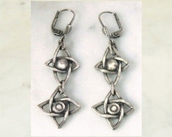"Silver earrings ""Star"""