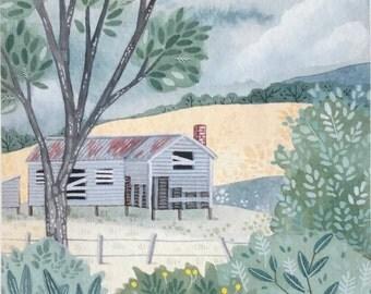 Abandoned house - Giclee print