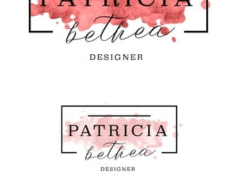 Premade Logo Design, Designer Logo, Fashion Logo, Blog Logo, Feminine Logo, Watercolor Logo