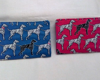 Business credit and visit card holder. Dalmatians fabric