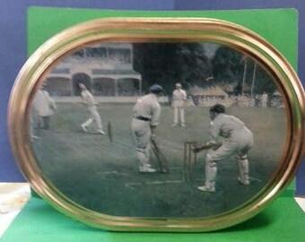 Cricket Match Biscuit Tin