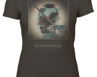Women's T Shirt Graphic (Glitch Strike) - Stringtheorist Official Merchandise