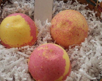 Pink Lemonade Bath Bombs