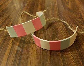 Handmade Trans Flag Bracelet