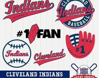 Cleveland Indians SVG, Cleveland Baseball Clipart, Cleveland Indians DXF, Baseball Clipart, Cleveland Clipart, Clipart SVG, mb-28