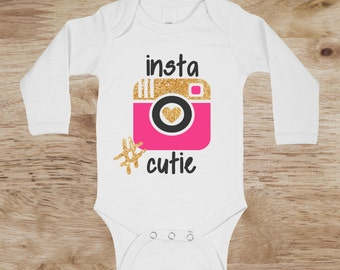 Instagram graphic tees, Girls Instagram Shirt, baby girl instagram shirt, instagram clothing, cute baby girl shirts, instagram baby