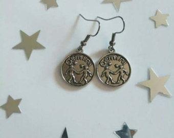 Zodiac Sign Gemini Earrings