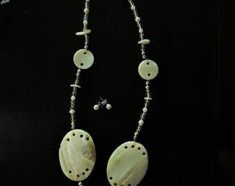 White seashell necklace