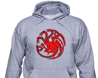 House Targaryen/ Daenerys Targaryen/ Game of Thrones/ Unisex hoodie/ Unisex sweatshirt/ Fire and Blood/ Mother of Dragons/ Girl gift/(GOT12)