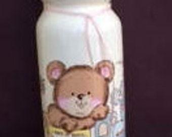 Vintage Baby Piggy Bank,Baby Nursery Decor,Musical Piggy Bank,Decorative Baby Bottle Bank,Baby Nursery Piggy Bank,Baby shower Gift,Coin Bank