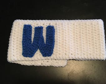 "Womens Crochet Chicago Cubs ""W"" flag Ispired Ear Warmer Headband"