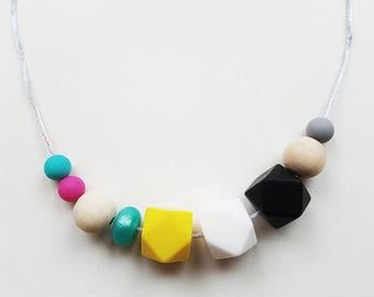 Lola Custom Teething Necklace, Silicone Beads, BPA Free, Personalise, Baby Teething, Nursing