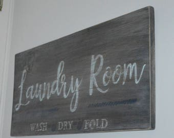 Rustic Laundry Room Sign